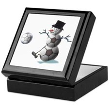 Soccer Ball Snowman Keepsake Box