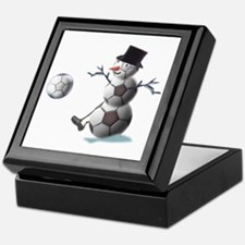 Soccer Ball Snowman Keepsake Box
