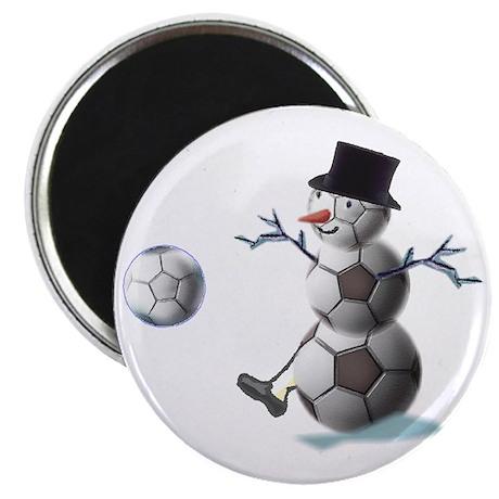 "Soccer Ball Snowman 2.25"" Magnet (10 pack)"