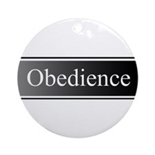 Obedience Ornament (Round)