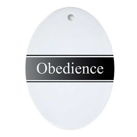 Obedience Ornament (Oval)