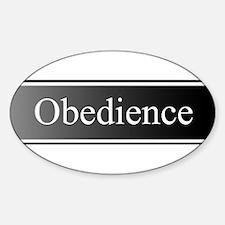 Obedience Sticker (Oval)
