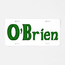 Family O'Brien Aluminum License Plate
