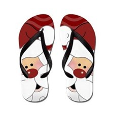 Adorable Santa Claus Christmas Flip Flops