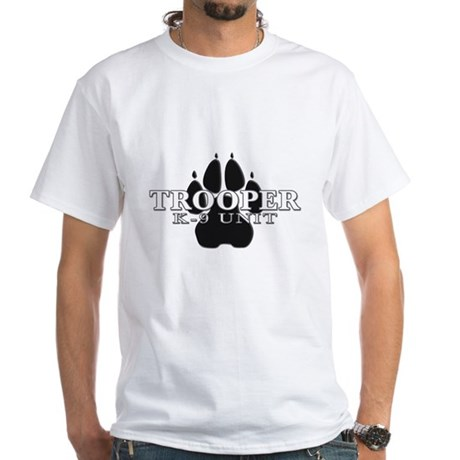 Police K-9 Paw White T-Shirt