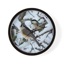 Tufted Titmouse & Chickadee Wall Clock