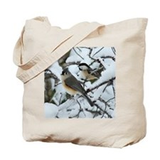 Tufted Titmouse & Chickadee Tote Bag