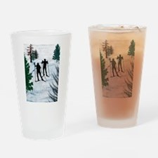 Cute Cross country ski Drinking Glass