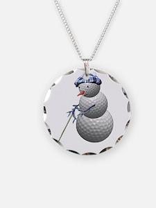 Golf Ball Snowman Necklace