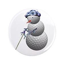 """Golf Ball Snowman 3.5"""" Button (100 pack)"""