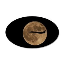 B1-B Moon Flight 22x14 Oval Wall Peel