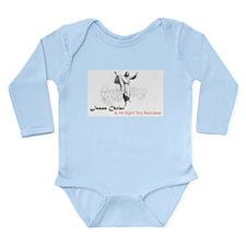 Santa Christ Long Sleeve Infant Bodysuit