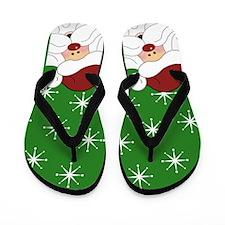 Santa Claus Christmas Flip Flops (Green)