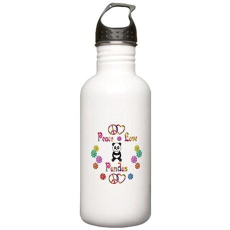Peace Love Pandas Stainless Water Bottle 1.0L