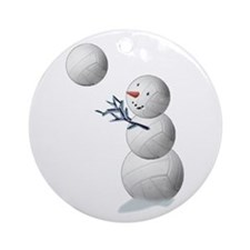 Volleyball Snowman Ornament (Round)