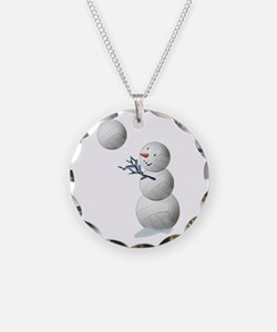 Volleyball Snowman Necklace