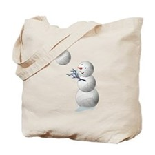 Volleyball Snowman Tote Bag