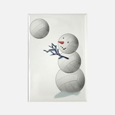 Volleyball Snowman Rectangle Magnet (10 pack)