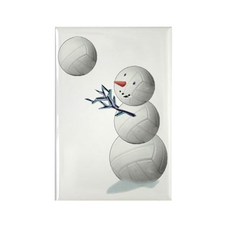 Volleyball Snowman Rectangle Magnet (100 pack)