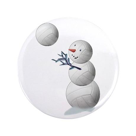 "Volleyball Snowman 3.5"" Button (100 pack)"