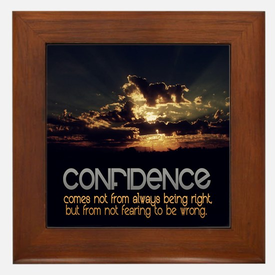 Confidence Quote on Framed Tile