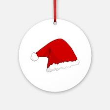 Christmas Santa Hat Ornament (Round)