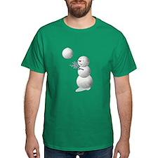 Volleyball Snowman T-Shirt