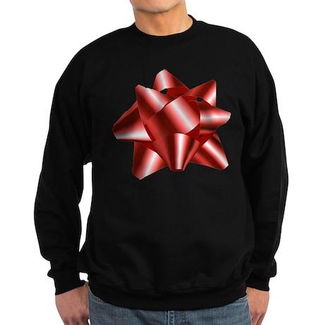 Christmas Red Bow Sweatshirt (dark)