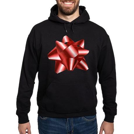 Christmas Red Bow Hoodie (dark)