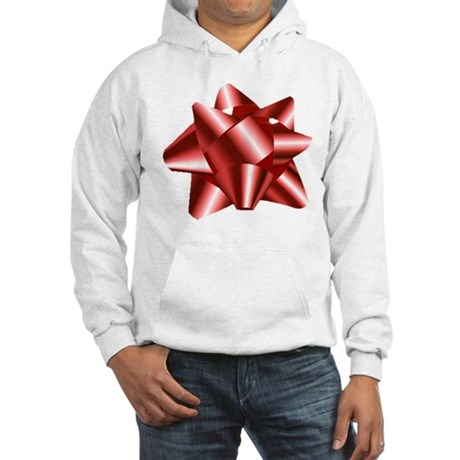 Christmas Red Bow Hooded Sweatshirt