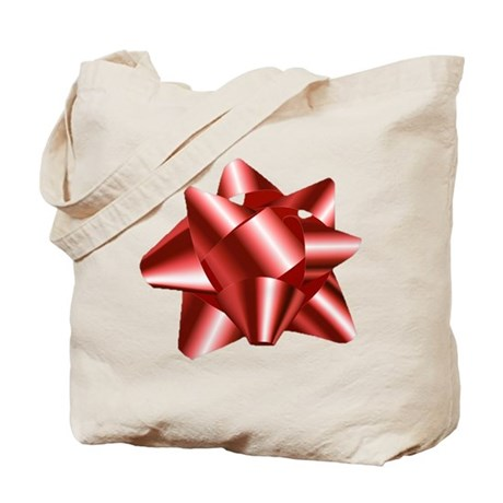 Christmas Red Bow Tote Bag