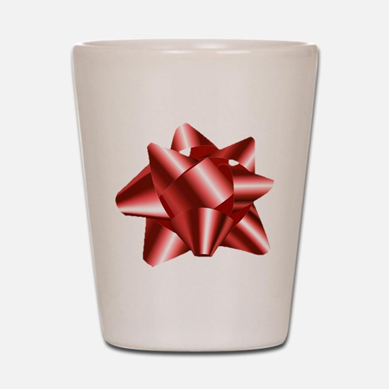 Christmas Red Bow Shot Glass