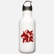 Christmas Red Bow Water Bottle