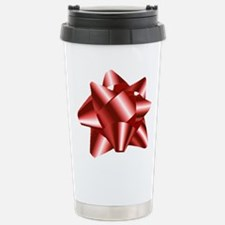 Christmas Red Bow Stainless Steel Travel Mug