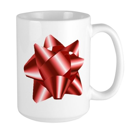 Christmas Red Bow Large Mug