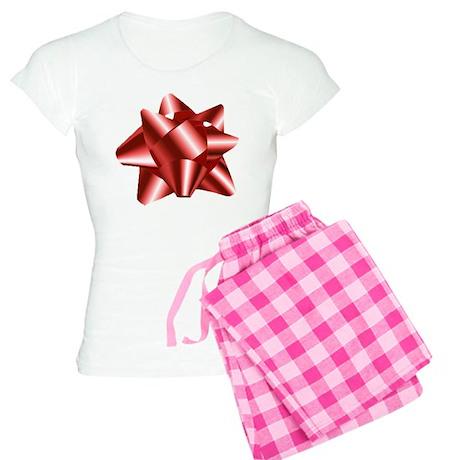Christmas Red Bow Women's Light Pajamas