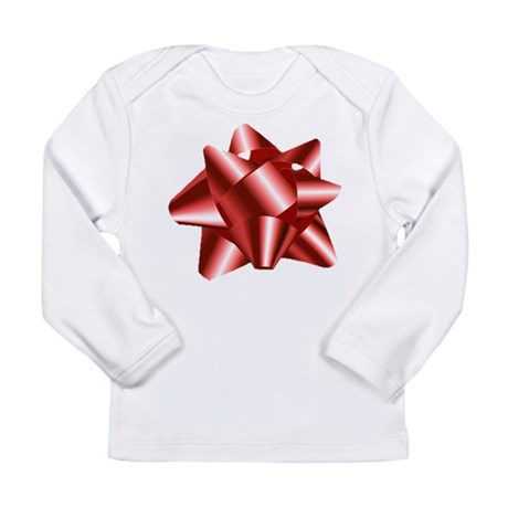 Christmas Red Bow Long Sleeve Infant T-Shirt