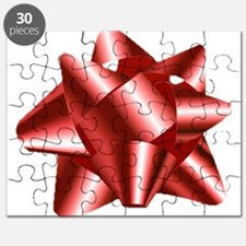 Christmas Red Bow Puzzle