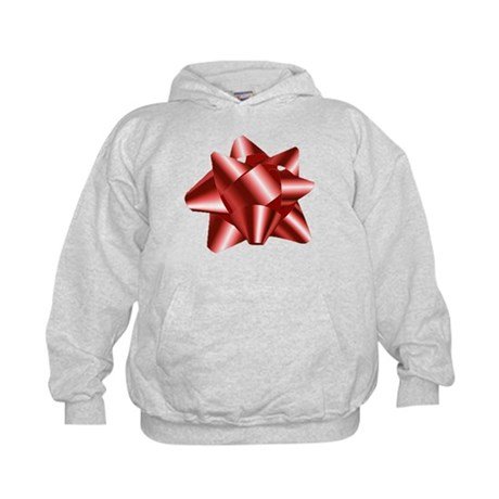 Christmas Red Bow Kids Hoodie