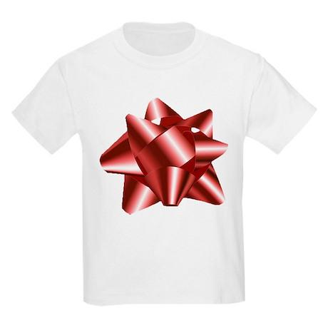 Christmas Red Bow Kids Light T-Shirt