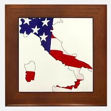 I am Italian American! Framed Tile