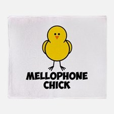 Mellophone Chick Throw Blanket