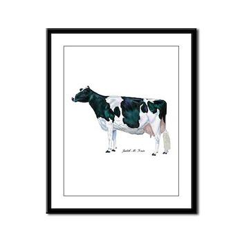 Holstein Cow Framed Panel Print