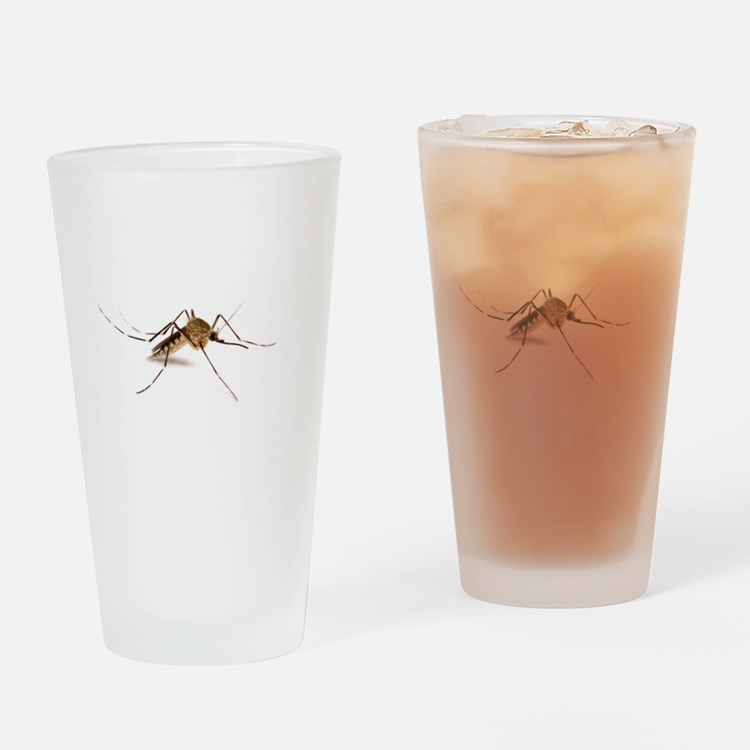 Mosquito Drinking Glass