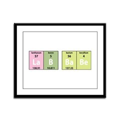 Chemistry Lab Babe Framed Panel Print