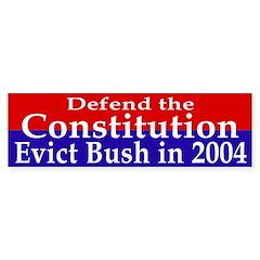 Defend the Constitution Bumper Bumper Sticker
