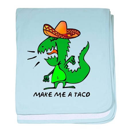 Make Me A Taco baby blanket