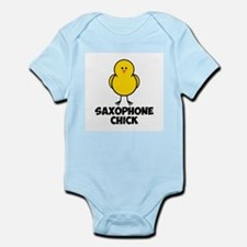Saxophone Chick Infant Bodysuit