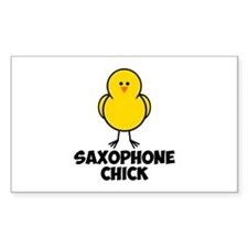 Saxophone Chick Decal