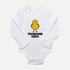 Trombone Chick Long Sleeve Infant Bodysuit